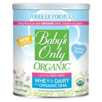 Baby's Only Whey & Dairy Protein with DHA Toddler Formula, 12.7 Oz (Pack of 1) |...