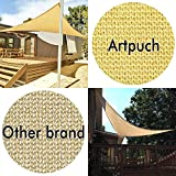 Artpuch 16'x16'x16' Shade Sail Triangle Sunlight