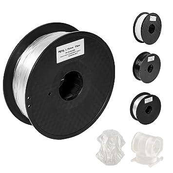 Pxmalion PETG filamento para impresoras 3D, 1,75 mm, transparente ...