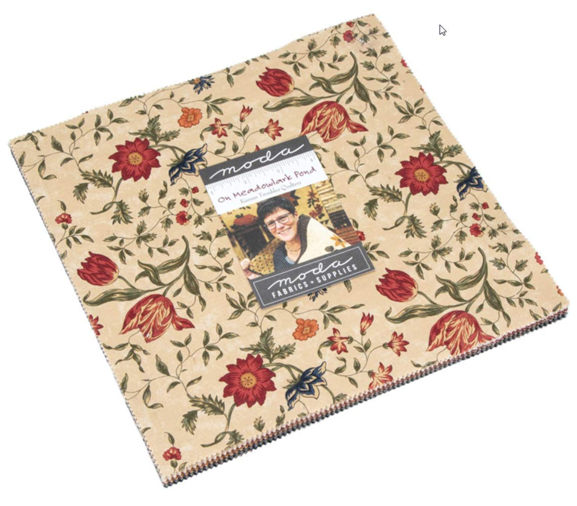 On Meadowlark Pond Layer Cake, 42-10'' Precut Fabric Quilt Squares by Kansas Troubles Quilters for Moda Fabrics 9590LC