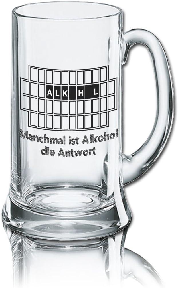 Divertido cerveza cristal Jarra de cerveza Icon 0,5L–: A veces es la respuesta de alcohol