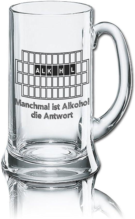 Divertido cerveza cristal Jarra de cerveza Icon 0,5L – : A veces es la respuesta de alcohol: Amazon.es: Hogar