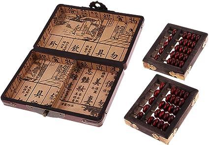 Jouet de Boulier Abaque Vertical en Bois Abacus Arithmétique Chinois