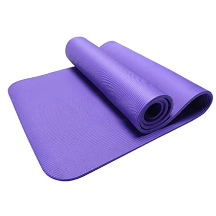 15MM Thick Non Slip Yoga Mat Exercise Fitness Pad Mat for Exercise Workout Fitness Physio Gym Cushion (Purple, Size: 183cm x 61cm x 1.5cm)