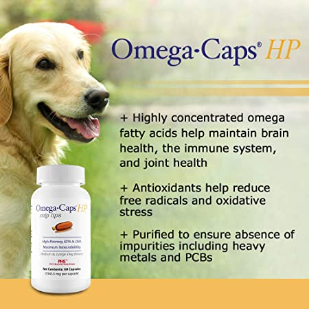 Healthy Pets Omega Caps HP Snip Tips for Medium Large Dogs 60 Capsules