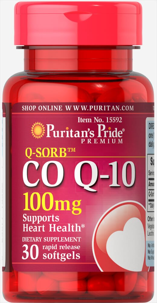 Puritan's Pride Q-Sorb Co Q-10 100 mg-30 Rapid Release Softgels by Puritan's Pride (Image #1)