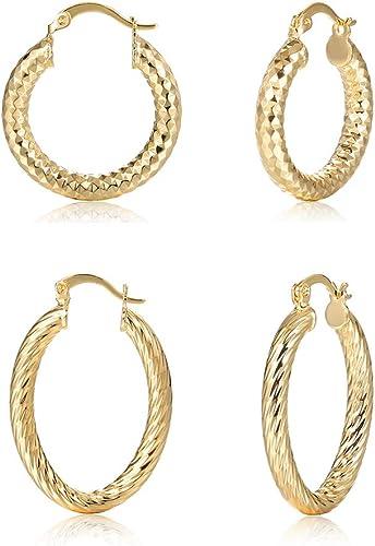 Amazon Com Hoop Earrings For Women Teardrop Hoops Earrings Gold