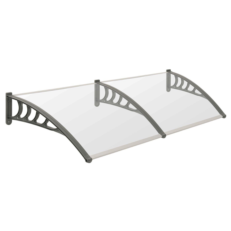 200 x B T 100 cm transparente PC Dachplatten Vordach f/ür Haust/ür in verschiedenen Gr/ö/ßen Terrasse und Garten