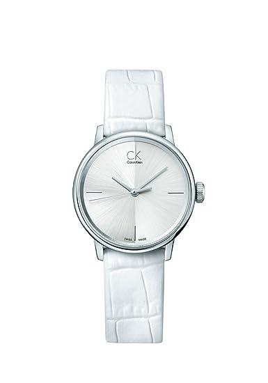 Calvin Klein 0 - Reloj de cuarzo para mujer, con correa de cuero, color