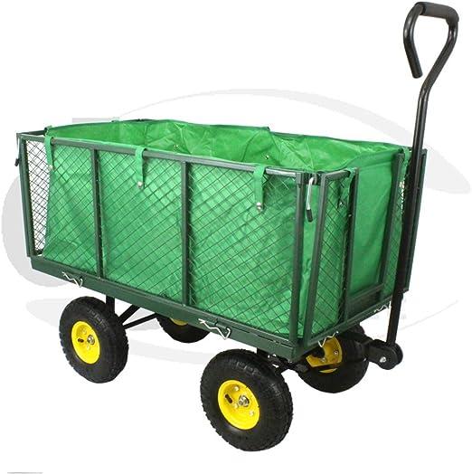 Carretilla de metal resistente para jardín de DJM: Amazon.es: Jardín