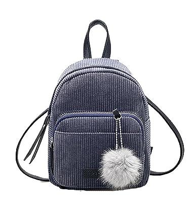 LuckES Bolsa de mujer,La moda de las mujeres mini mochila PU cuero de la Universidad bandolera mochila de la escuela de señoras niñas bolsa de viaje casual ...