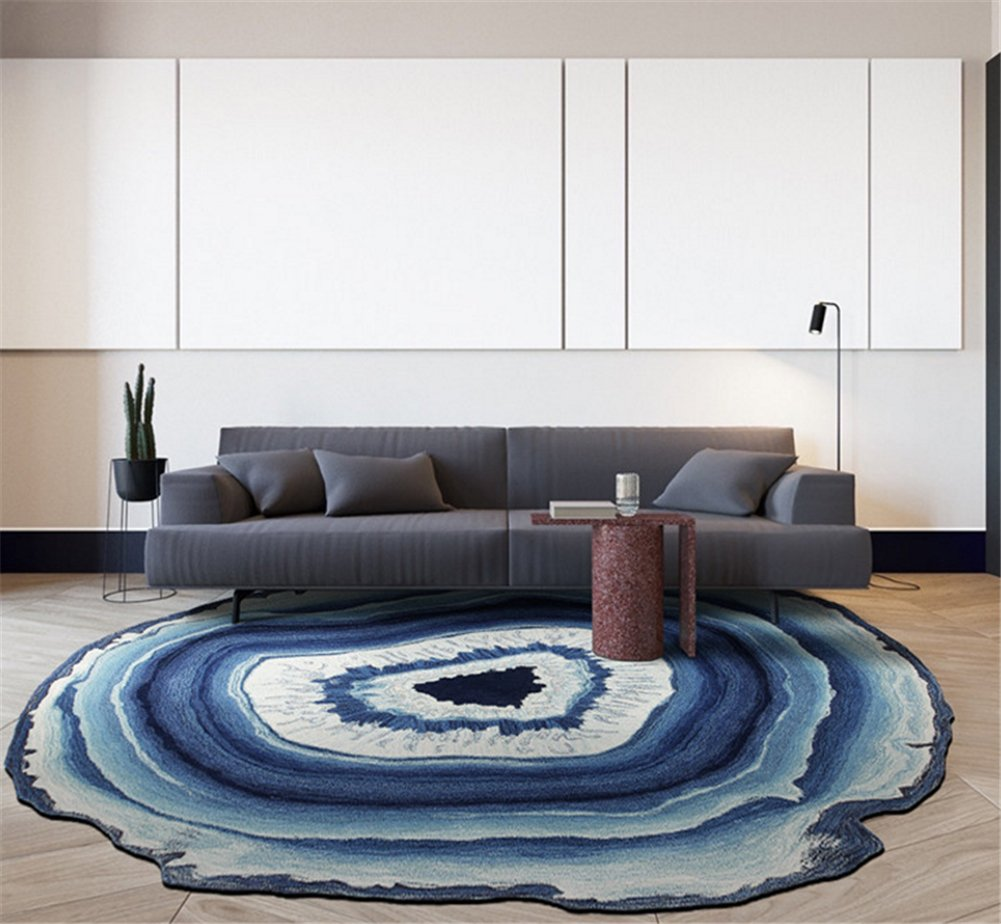 Creative Round Area Rug Floor Mat Rural Style Design Bedroom Rug ...