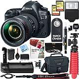 Canon EOS 5D Mark IV 30.4 MP Full Frame CMOS DSLR Camera + EF 24-105mm f/4L IS II USM Lens + Accessory Bundle