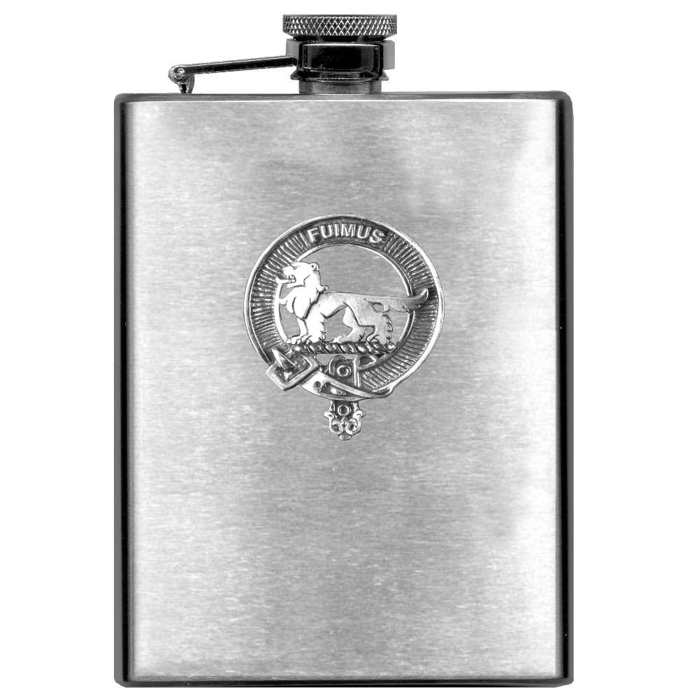 Bruce Scottish Clan Stainless Steel 8oz Flask