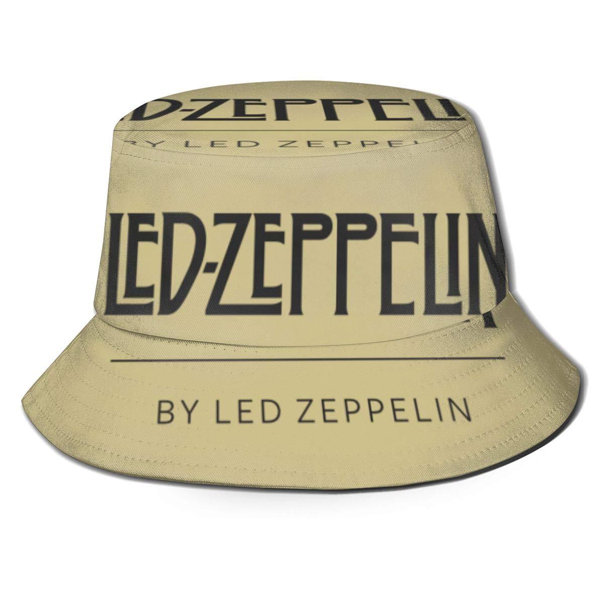 Vintage KXKXCVFF Bucket Hat Led Zeppelin Unisex Bucket Hat S/ü/ßer Outdoor-Sonnenhut Fishman-H/üte Packbar M/ütze F/ür M/änner Frauen