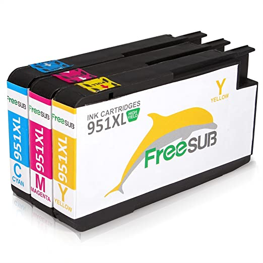 Amazon FreeSUB 3 Color High Yield Compatible Ink Cartridge