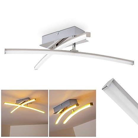 Lampara de techo LED Georgina - 2x LED 5 Watt alta eficiencia - 500 Lumens cada Luz 3000K blanco cálido - Brazo flexible para cambiar el diseño