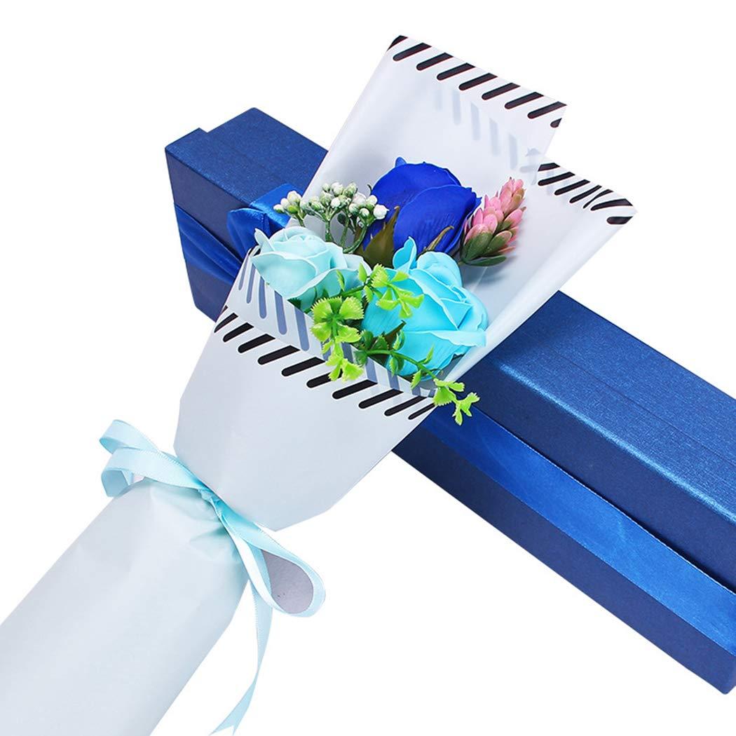 Rose Petals Soap Bath Body Soap Perfect Gift for Weddings Valentine\'s Day Anniversary (Purple)