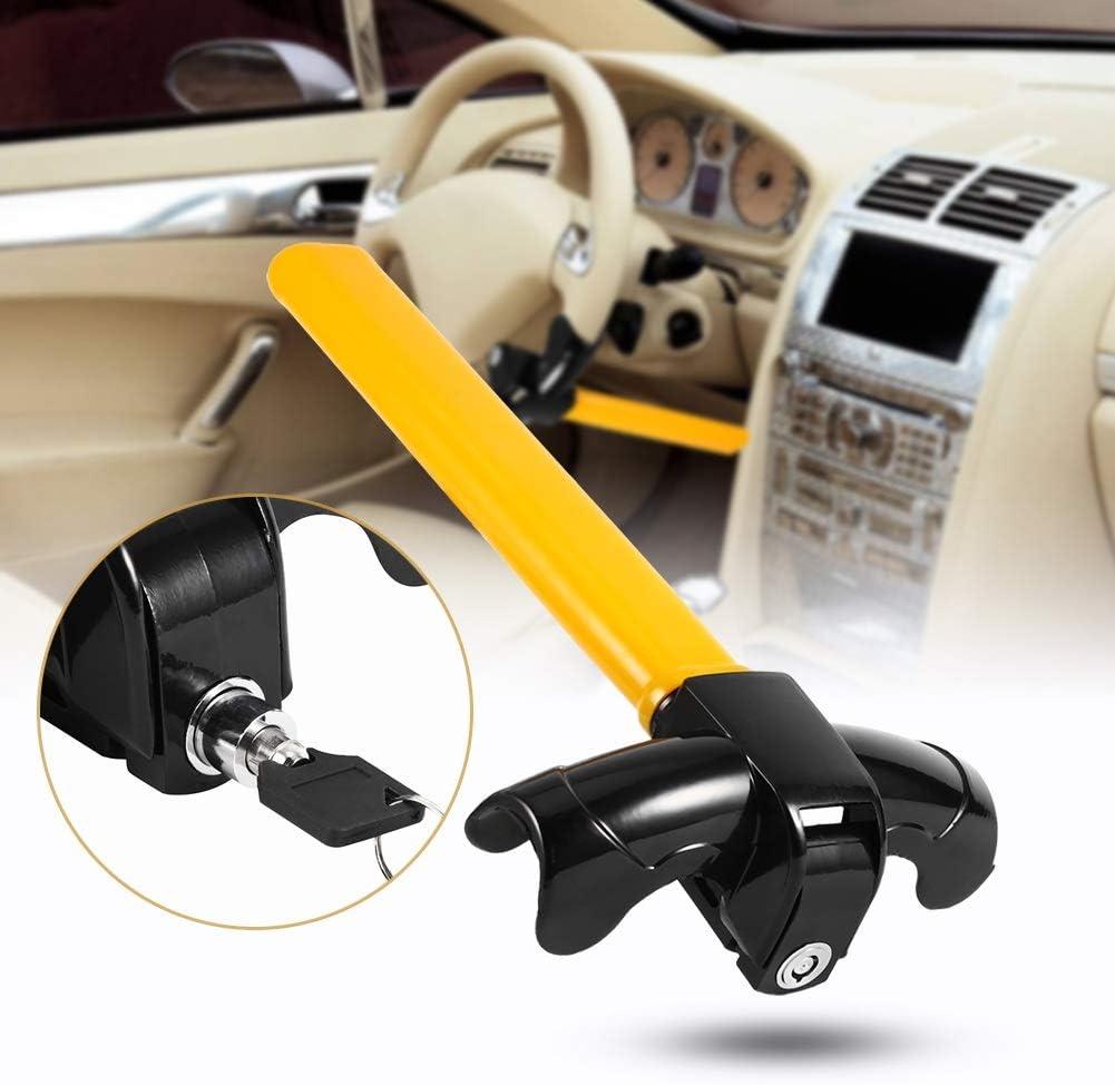 Delaman Car Immobilizer Steering Wheel Lock Anti-Theft t Steering Wheel Lock With 2 Keys Car Steering Wheel Lock