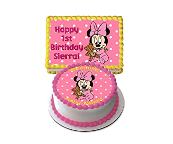 Superb 1St Birthday Minnie Mouse Cake 1St Birthday Ideas Funny Birthday Cards Online Kookostrdamsfinfo
