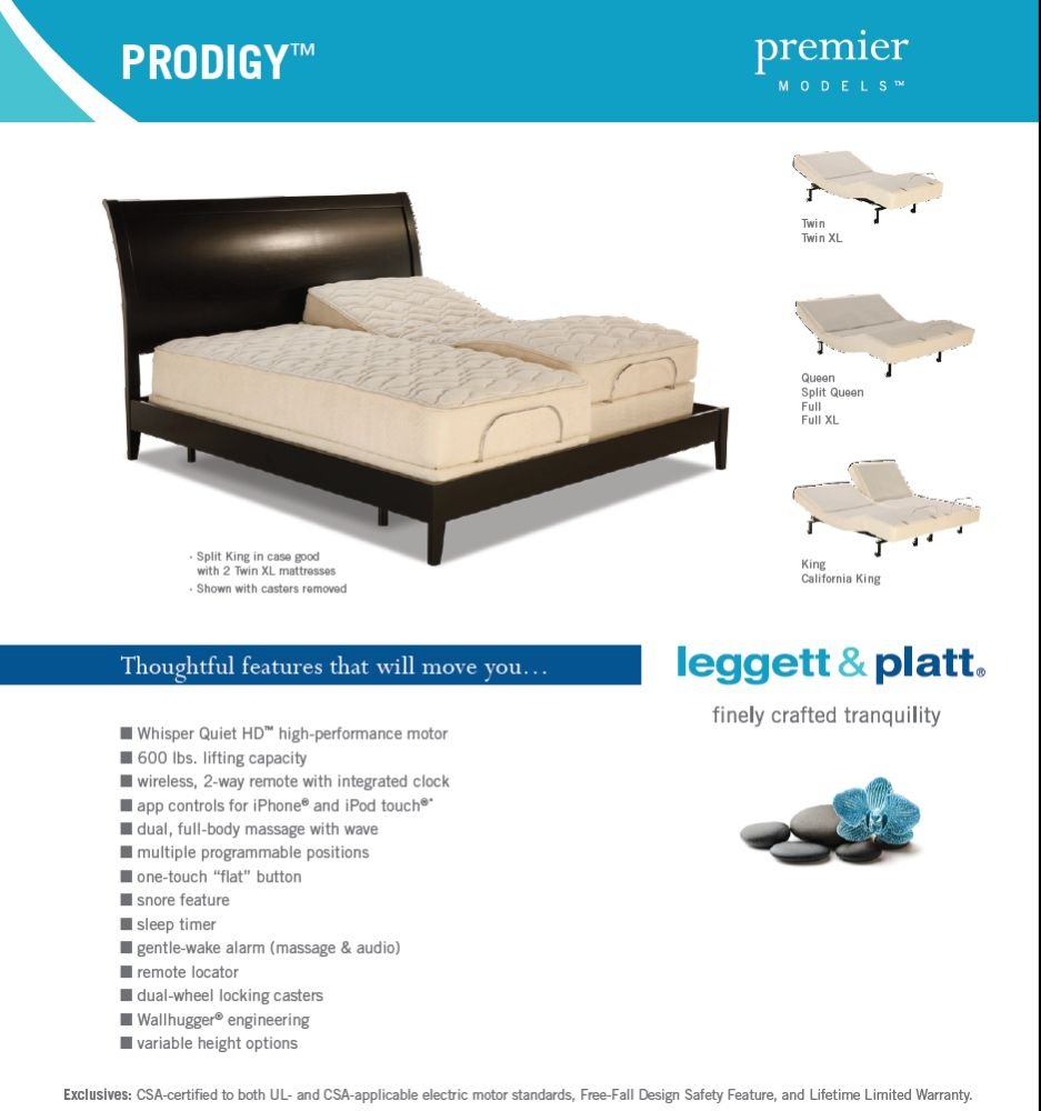 amazon com adjustables prodigy adjustable bed twin x large