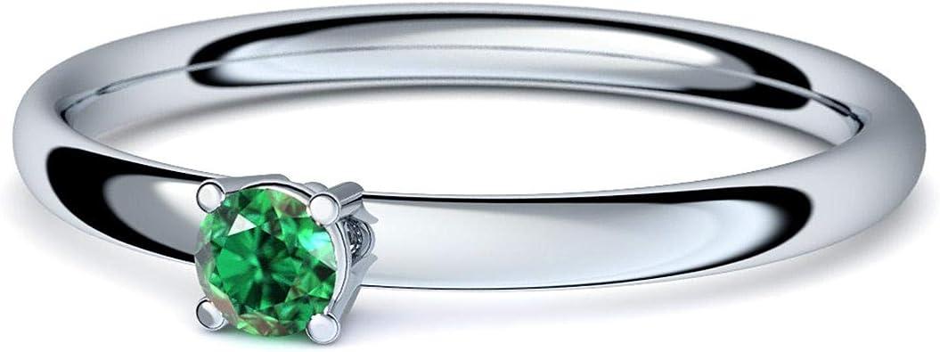 Anillo de plata esmeralda 925 + con Estuche + Esmeralda anillo plata Esmeralda anillo plata (plata 925) Concinnity Amoonic joyería tamaño 48 - (15.3 AM161 SS925SMFA: Amazon.es: Joyería