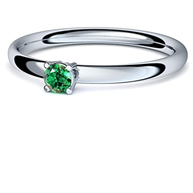 Smaragd Ring Silber 925 Sehr Hochwertiger Smaragd 3 Mm