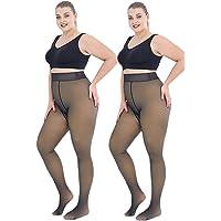 Warme Fleece Gevoerde Leggings voor Vrouwen, Plus Size Nep Doorschijnende Vlekkeloze Benen Panty Thermische Winter Panty…