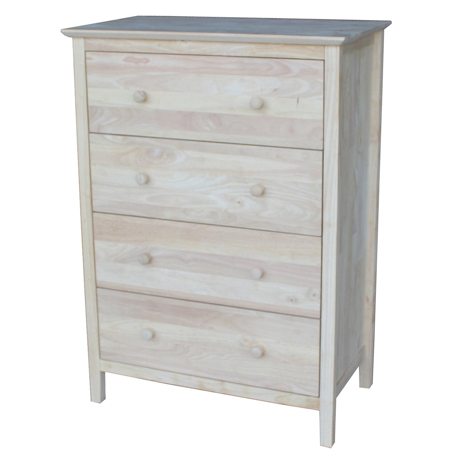 International Concepts Chest with 4 Drawers, Unfinished by International Concepts