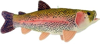 "17/"" Sierra Rainbow Trout Plush Stuffed Animal Walltoy Wall Mount"