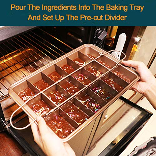 Brownie pan with dividers