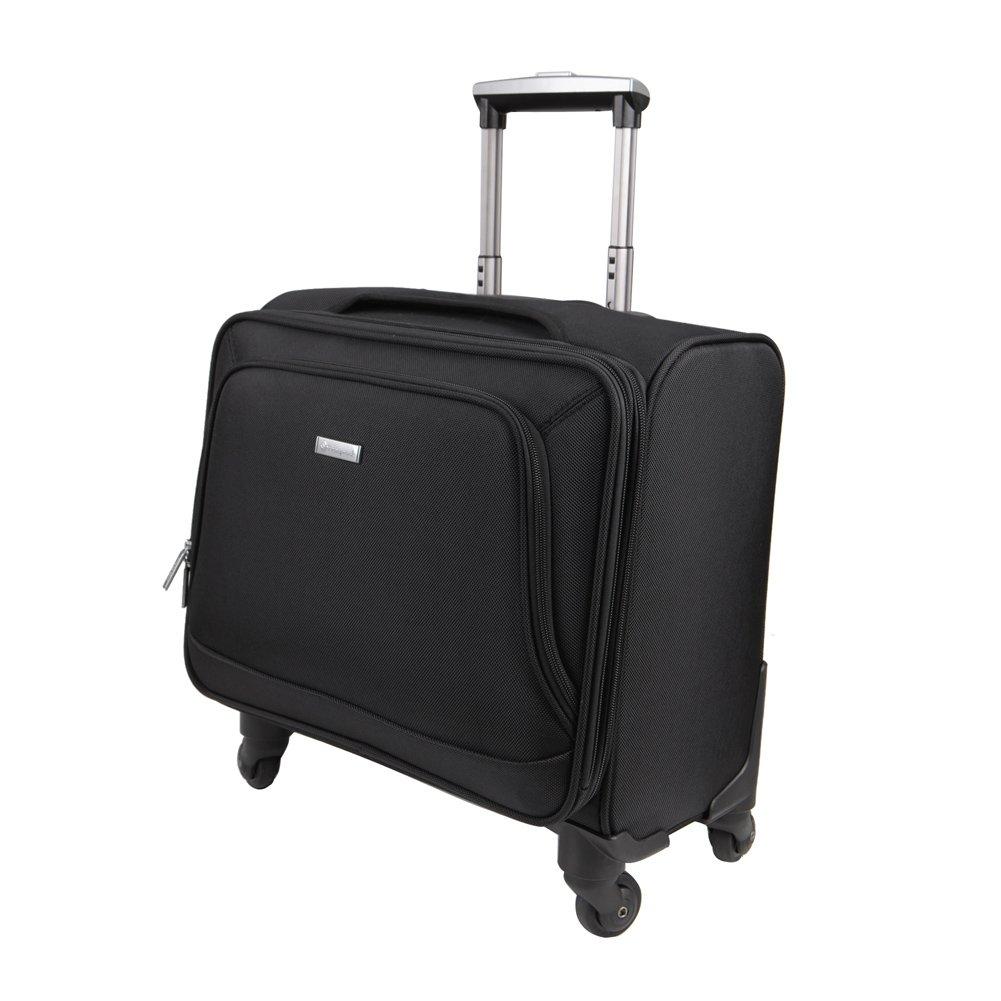 Freeprint Business Travel Spinner Luggage/ Universal Wheeled Rolling Suitcase, Black