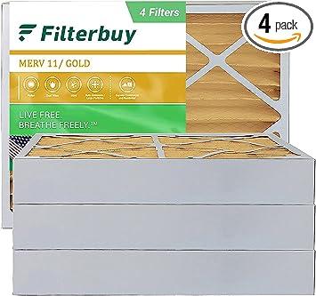 Filterbuy 12x24x4 AFB Gold Merv 11 plissée CVC AC four Filtre à air