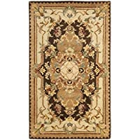 Safavieh Empire Collection EM823B Handmade Traditional European Brown and Beige Premium Wool Area Rug (4 x 6)