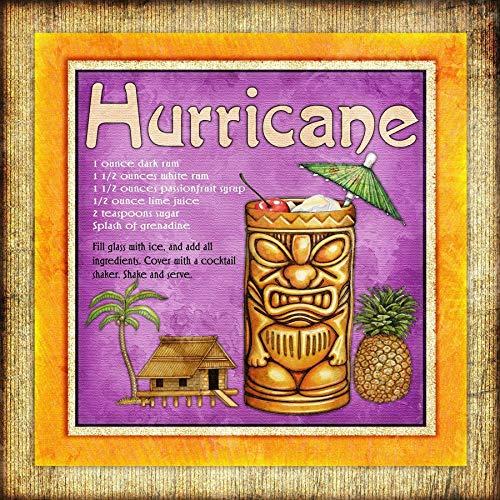 (Tiki Bar Drink Recipe Square Art Print by Dan)