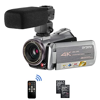 Camcorder Video Camera 4K 30FPS ORDRO Ultra HD YouTube Vlogging Camera  28 0MP 3 1