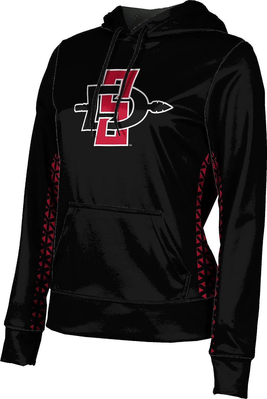 School Spirit Sweatshirt Geometric San Diego State University Girls Pullover Hoodie