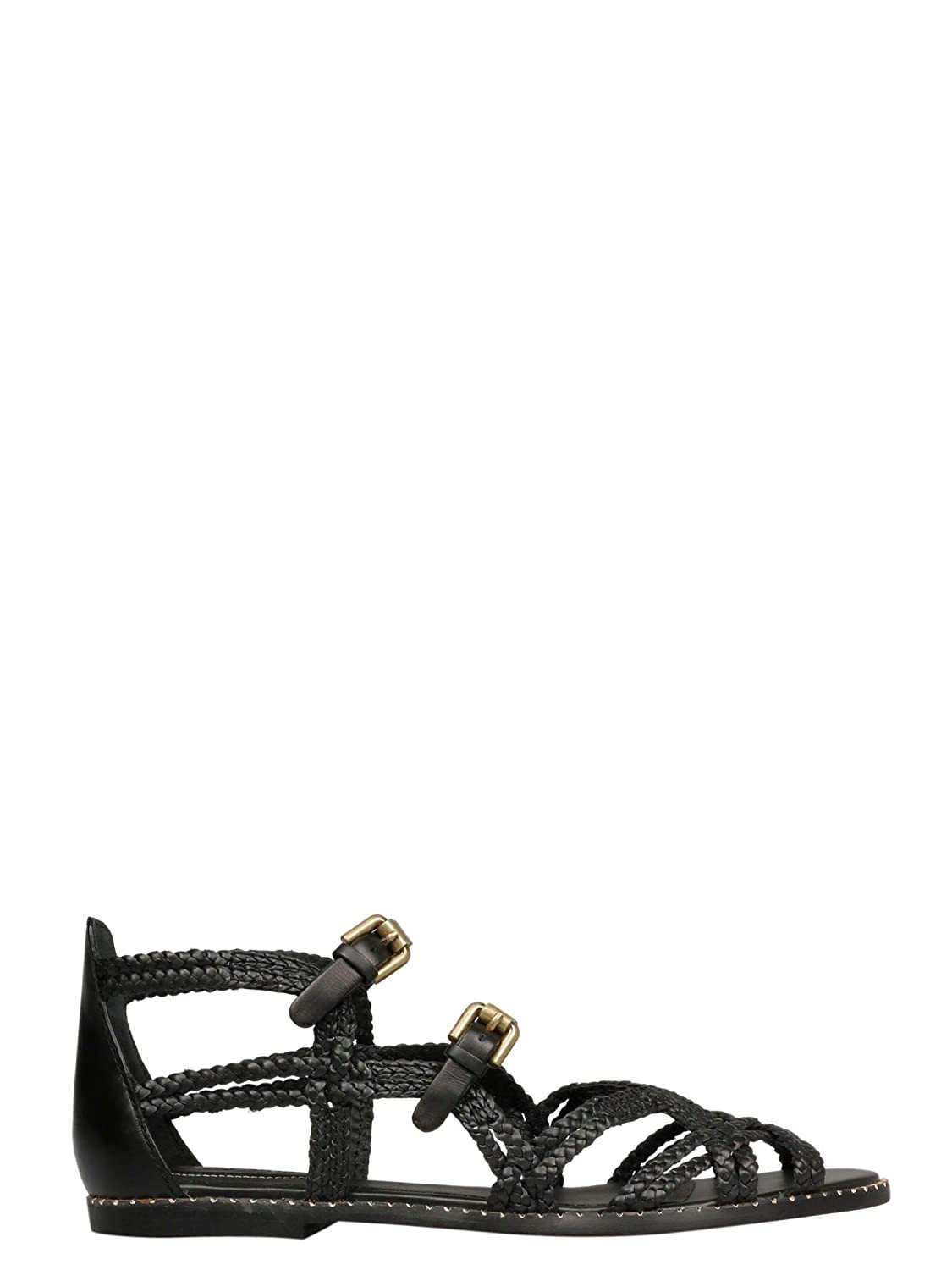 - SEE BY CHLOÉ Women's SB32090A09110999 Black Leather Sandals