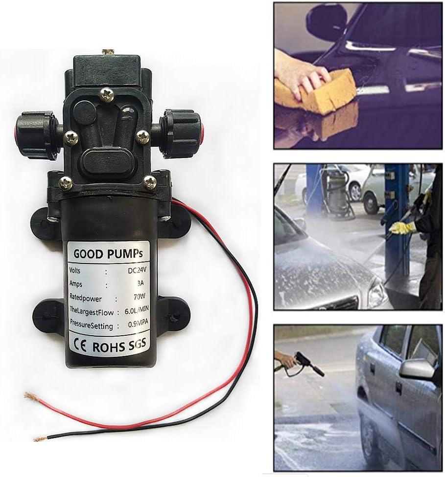 VerRich 24V Bombas de agua Bomba de micro diafragma autocebante de alta presión para autocaravana, caravana