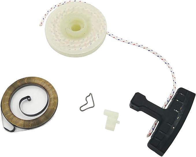 Cancanle Polea de Arranque de Retroceso empuñadura Cuerda Resorte trinquete para Stihl FC55 FS38 FS45 FS55 HL45 KM55 MM55 desbrozadora: Amazon.es: Jardín