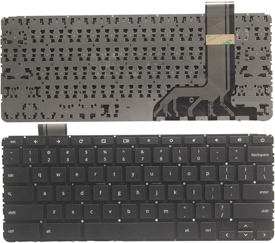 New Laptop Replacement Keyboard No Frame Fit HP ChromeBook 11 G5 855623-001 US Layout(Not Fit 11 G5 EE)