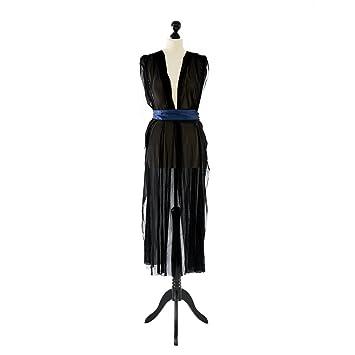 Kleid blau transparent