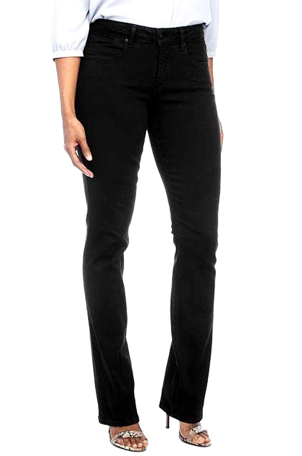 J&C Extended Womens Plus Size Blue/Black Denim Jean Tall Long Tummy Technology (20 Plus, Black)