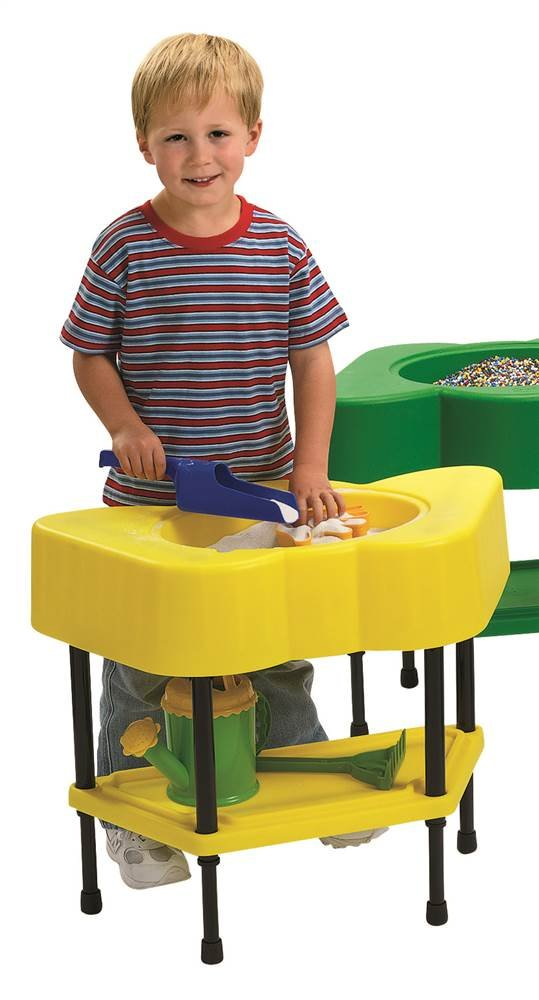 Angeles Sensory Table  Colorful Table for Kids Yellow (24 x 13 x 18 in) by Angeles