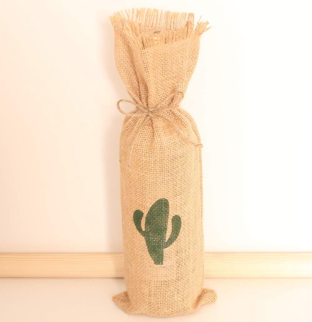 Saco para botella original pintado cactus 5 unidades: Amazon ...