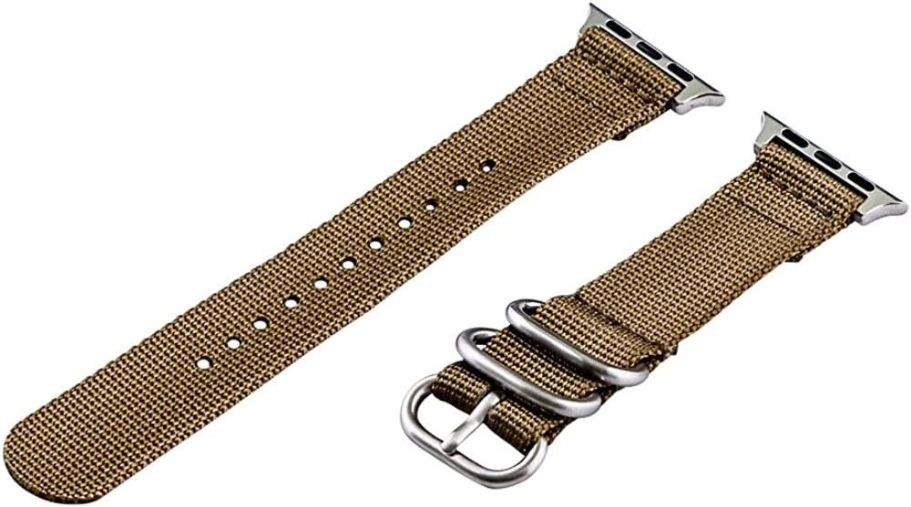 Clockwork Synergy - 2 Piece Heavy NATO Band (SS) Compatible for 42mm Apple Watch Series