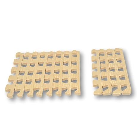 32a90a90212 Bordes rectos para alfombra de goma EVA. 12 piezas. Crema.  Amazon ...