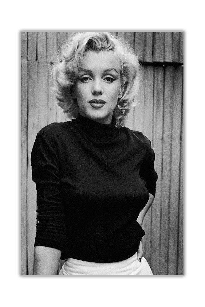 30CM X 20CM 01- A4-12 X 8 Black//White Tela Iconica foto in bianco e nero di Marilyn Monroe stampata su tela