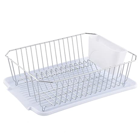 Ufaucet Best Commercial Rust Proof Kitchen In Sink Side Draining Dish  Drying Rack, Chrome Dish