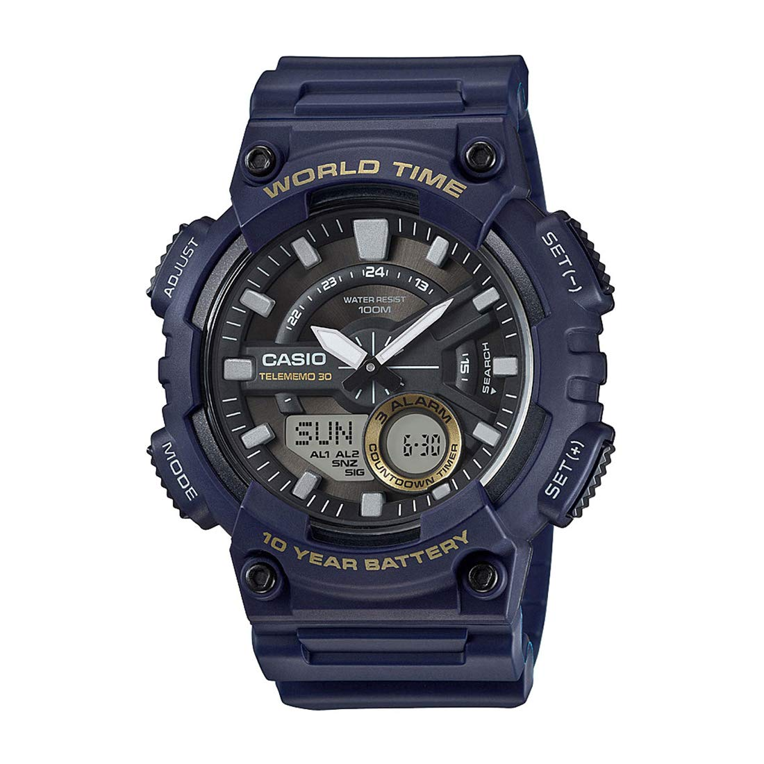 Casio Youth-Combination Analog-Digital Black Dial Best Sports Watches For Men to Buy Right Now in India